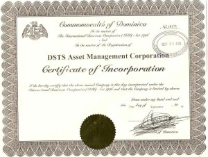 DSTSAMCCertificateofIncorporation